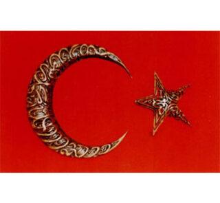 el işçiliği ile bayrak ay yıldız